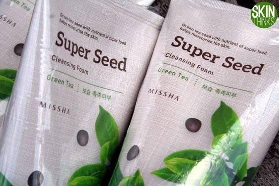 Пенка Для Умывания С экстрактом Зеленого Чая Super Seed Cleansing Foam #Green Tea 150m
