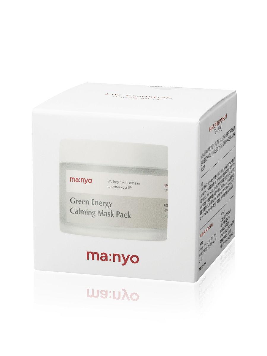 Маска успокаивающая с экстрактом зеленого чая и полыни Manyo Factory Green Energy Calming Mask Pack 75ml 1 - Фото 2