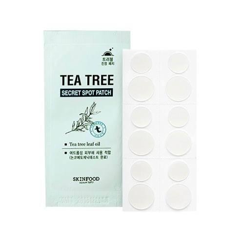 Пластырь От Прыщей С Маслом Чайного Дерева SKINFOOD Tea Tree Secret Spot Patch 12шт 2 - Фото 2