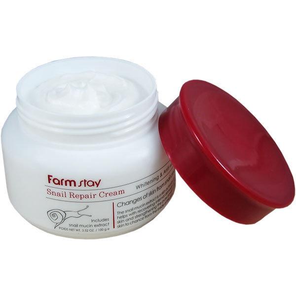 Крем для восстановления и увлажнения кожи лица с муцином улитки FarmStay Snail Repair Cream 100ml 1 - Фото 2