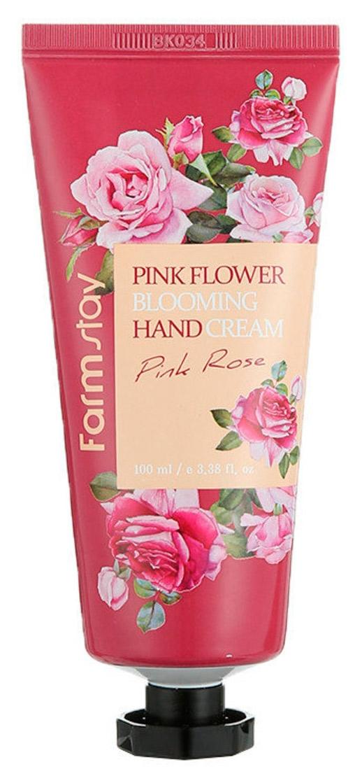 Крем для рук увлажняющий и успокаивающий с экстрактом розы FarmStay Pink Flower Blooming Hand Cream Pink Rose 100ml 0 - Фото 1