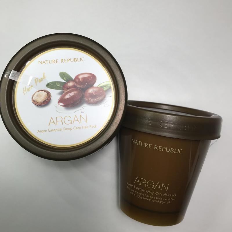 Восстанавливающая маска для волос с маслом арганы Nature Republic Argan Essential Deep Care Hair Pack 200ml 0 - Фото 1