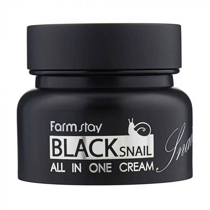 Крем для лица восстанавливающий антивозрастной с муцином черной улитки FarmStay All-In-One Black Snail Eye Cream 100ml 0 - Фото 1