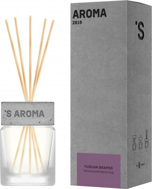 Аромадиффузор для дома и офиса SISTER'S AROMA Reed Diffuser «Tuscan Grapes» 120ml