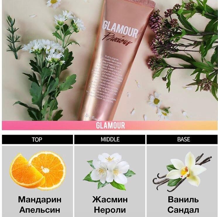 Крем для тела с ароматом мандарина и сладкого жасмина Evas Kiss by Rosemine Fragrance Cream Glamour Precious 140ml 2 - Фото 2
