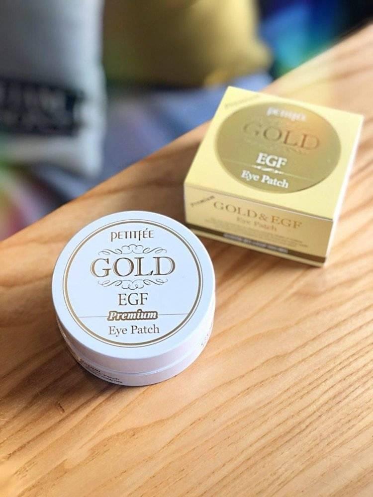 Патчи Премиальные Гидрогелевые C Коллоидным Золотом Эпидермальный Фактором Роста Petitfee GOLD Premium EGF Eye Spot Patch 1 - Фото 2