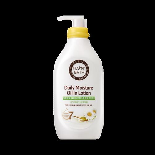 Лосьон для тела успокаивающий с экстрактом ромашки Happy Bath Daily Moisture Oil in Lotion Camomail 450ml 2 - Фото 3