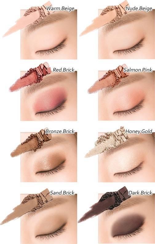 Палетка Теней Для Век  Heimish Dailism Eye Palette Brick Brown 2 - Фото 2