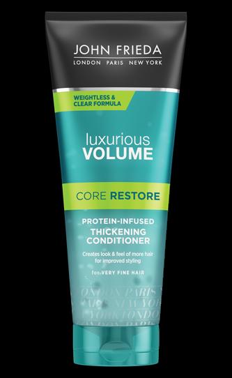Кондиционер для тонких волос прозрачный с протеином «Екстра объем» John Frieda Luxurious Volume Core Restore Protein-Infused Clear Conditioner 250ml 0 - Фото 1