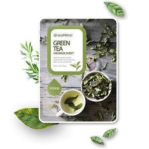 Тканевая Маска С Экстрактом Зеленого Чая SeaNtree Green Tea Mask Sheet 20ml 0