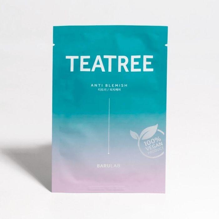 Себорегулирующая тканевая маска с экстрактом чайного дерева BARULAB The Clean Vegan Teatree Mask 23g 0 - Фото 1