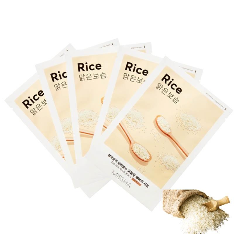 Маска тканевая для лица с экстрактом риса Airy Fit Rice Sheet Mask Missha 19g 2 - Фото 2