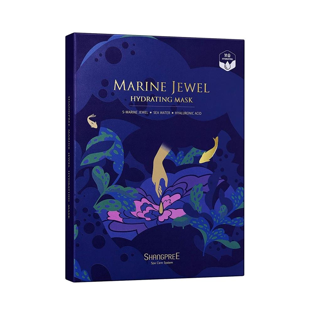 Маска увлажняющая для лица  с морскими водорослями и жемчугом MARINE JEWEL HYDRATING MASK SHANGPREE 30ml 0 - Фото 1