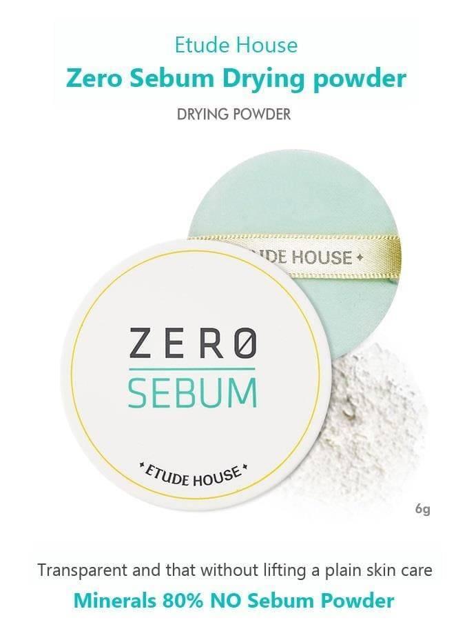 Минеральная Матирующая Пудра Для Лица Etude House Zero Sebum Drying Powder