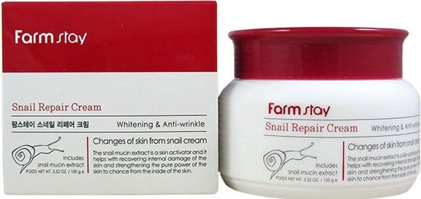 Крем для восстановления и увлажнения кожи лица с муцином улитки FarmStay Snail Repair Cream 100ml 0 - Фото 1