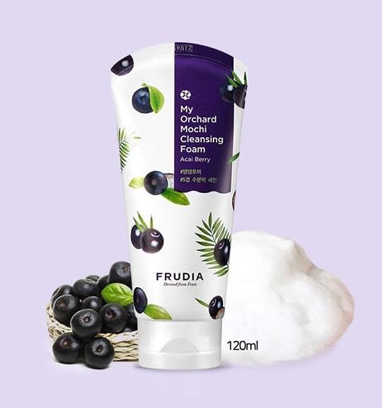 Пена для умывания с экстрактом ягод асаи Frudia My Orchard Acai Berry Cleansing Foam (Low Ph Cleanser) 120ml  0 - Фото 1