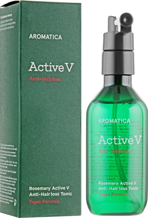 Активный питательный тоник против выпадения волос Aromatica Rosemary Active V Anti-Hair Loss Tonic 100ml 1 - Фото 2