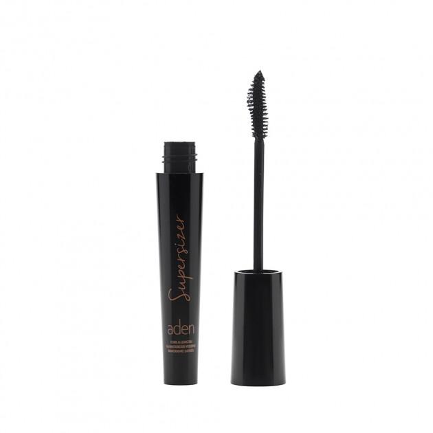 Тушь черная удлиняющая для ресниц Aden Cosmetics Supersizer Mascara 10ml 0 - Фото 1