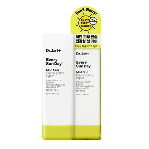 Солнцезащитный крем с маслом бергамота Dr. Jart Every Sunday sun cream  Mild Sun SPF43+ PA+++ 50ml