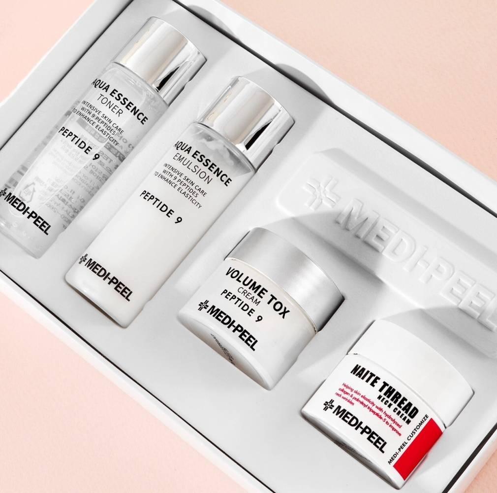 Набор: Тонер, Эмульсия, Крем Для Лица И Крем Для Шеи С Комплексом Пептидов Medi-Peel Peptide 9 Skincare Trial Kit 80 мл