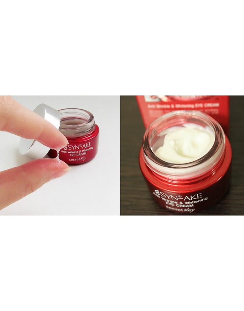 Крем антивозрастной отбеливающий для глаз Secret Key Syn-Ake Anti Wrinkle & Whitening Eye Cream 15ml 2 - Фото 2