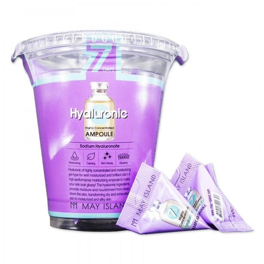 Сыворотка ампульная с высоким содержанием гиалуроновой кислоты для интенсивного увлажнения кожи May Island 7 Days Highly Concentrated Hyaluronic Ampoule 5ml