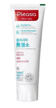 Зубная паста органическая с экстрактом мяты Pleasia Fluoride Free Basic Care Toothpaste 100ml 0 - Фото 1
