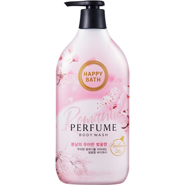 Гель для душа с экстрактом цветов вишни  Happy Bath Romantic Cherry Blossom Perfume Body Wash 900ml 2 - Фото 2