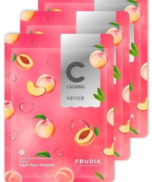 Маска тканевая антивозрастная для лица с персиковым экстрактом My Orchard Squeeze Mask Peach Frudia 20 ml 1 - Фото 2
