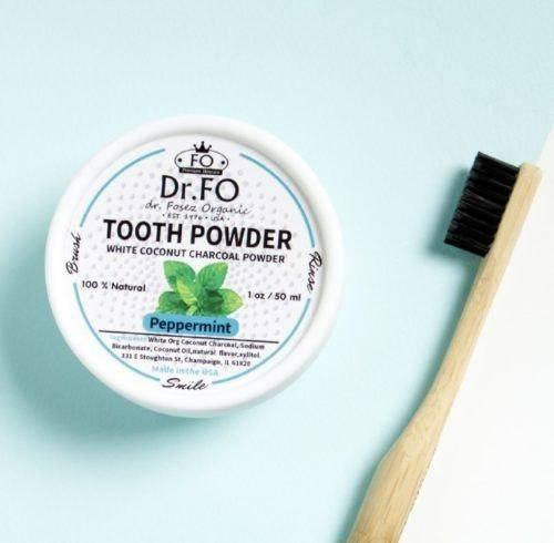 Порошок Для Зубов Отбеливающий С Кокосовым Углем Teeth Whitening Active Coconut Charcoal Powder Dr. Fosez 0 - Фото 1