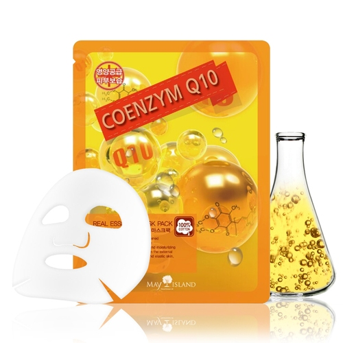 Маска тканевая увлажняющая с коэнзимом для лица May Island Real Essense Coenzyme Q10 Mask Pack 25ml 0 - Фото 1