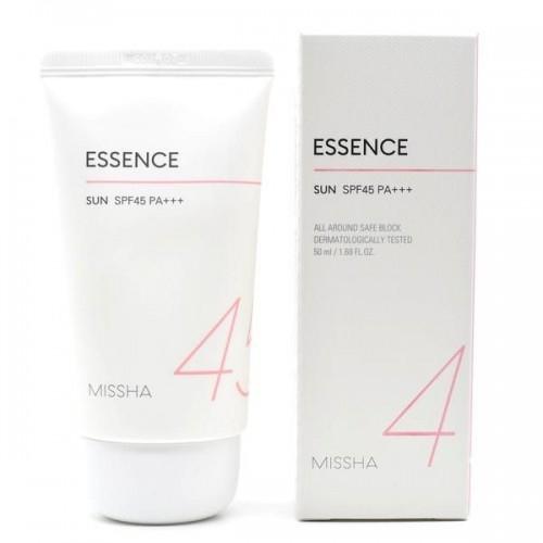 Солнцезащитная эссенция с экстрактом хризантемы Missha All Around Safe Block Essence Sun Cream SPF45 / PA +++ 50ml 0 - Фото 1