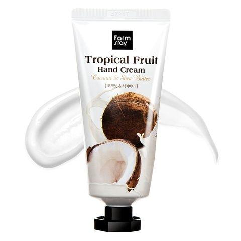 Крем для рук увлажняющий с экстрактом кокоса и маслом ши FarmStay Tropical Fruit Hand Cream Coconut & Shea Butter 50ml 0 - Фото 1