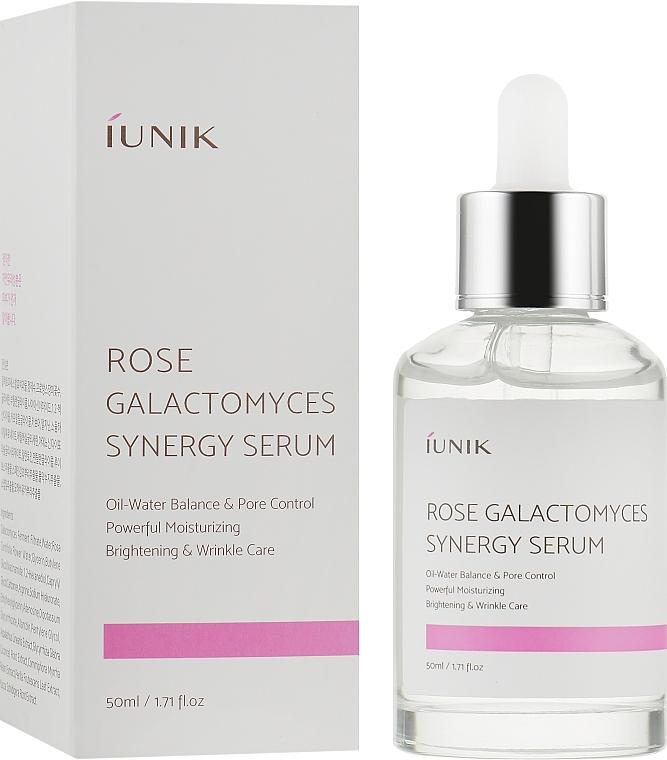 Сыворотка для лица активно увлажняющая с экстрактом розы и галактомисисом IUNIK Rose Galactomyces Synergy Serum 50ml 2 - Фото 2