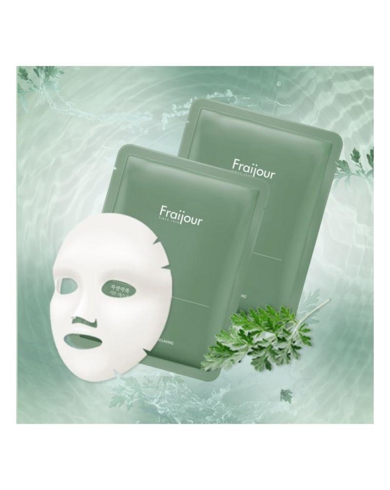 Тканевая маска «Растительные экстракты» Evas Fraijour Original Herb Wormwood Sheet Mask 23ml 3 - Фото 3