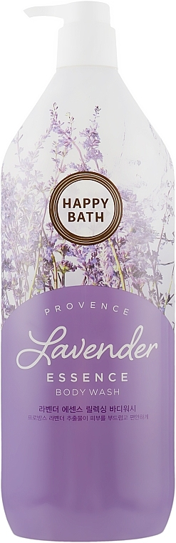 Гель-эссенция для душа с экстрактом лаванды Happy Bath Lavender Essence Relaxing Body Wash 1100ml  0 - Фото 1