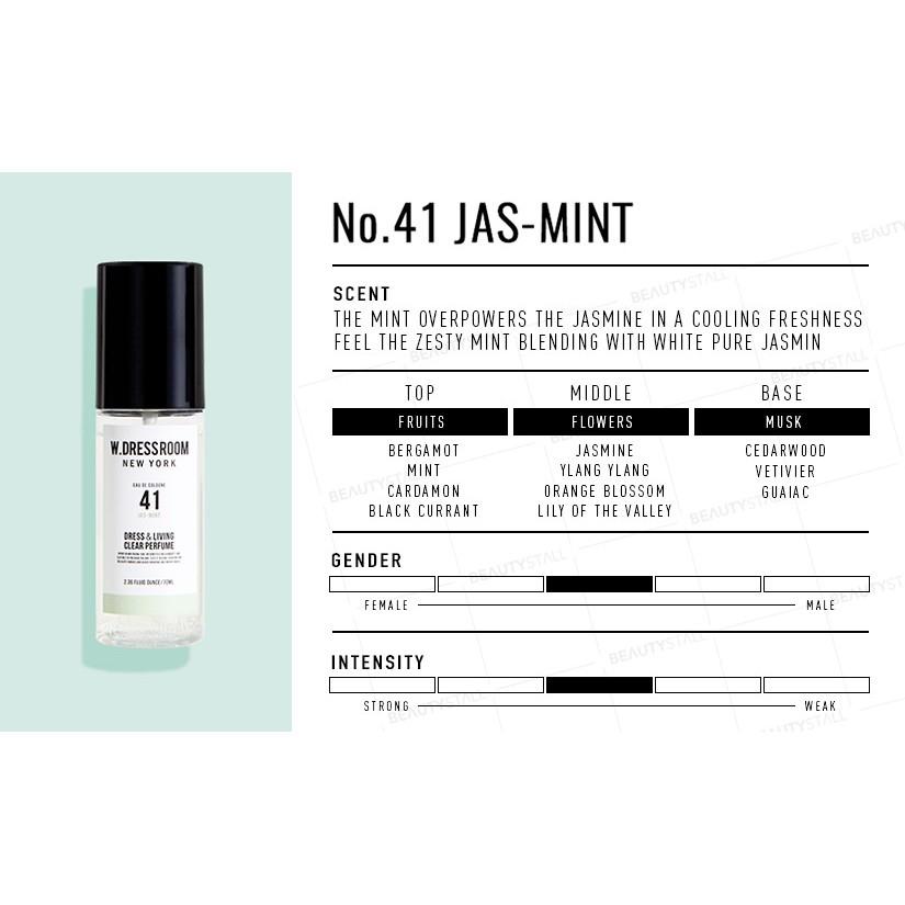 Парфюмированная вода для одежды с ароматом ментола W.Dressroom  Dress & Living Clear Perfume No.41 Jas Mint 70ml 1 - Фото 2