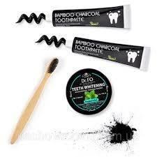 Порошок Для Зубов Отбеливающий С Активированным Кокосовым Углем Teeth Whitening Active Coconut Charcoal Powder Dr. Fosez