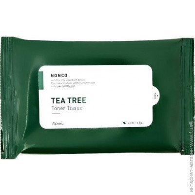 Салфетки тонизирующие с маслом чайного дерева для проблемной кожи A'pieu Nonco Tea Tree Toner Tissue 20шт 0 - Фото 1