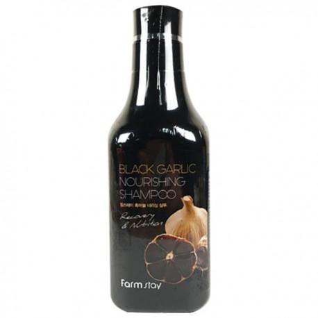 Шампунь питательный укрепляющий с экстрактом черного чеснока для волос FarmStay Black Garlic Nourishing Shampoo 530ml 2 - Фото 2