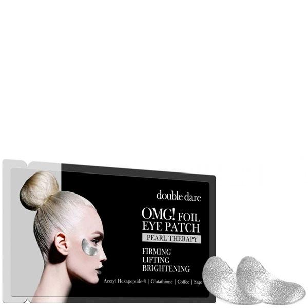 Патчи укрепляющие с кофеином  Double Dare OMG! Foil Eye Patch Pearl Treatment 1 - Фото 2