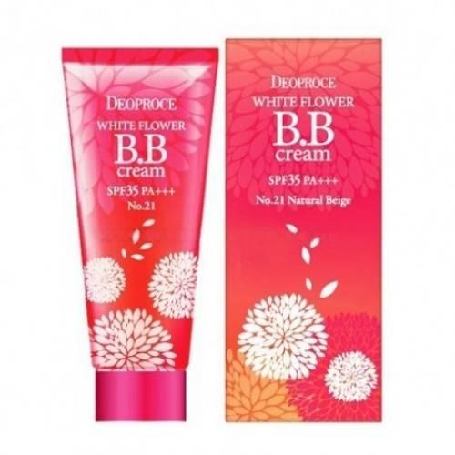 Питательный BB крем с экстрактами белых цветов Deoproce WHITE FLOWER BB CREAM SPF35 PA+++ 30g 0 - Фото 1