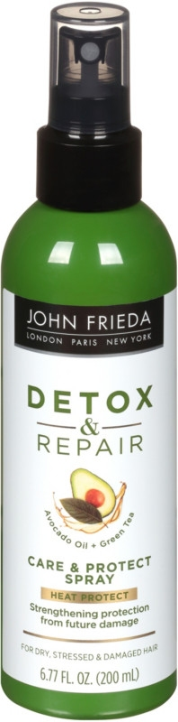 Несмываемый спрей для укрепления волос с термозащитой John Frieda Detox & Repair Care & Protect Spray 200ml 0 - Фото 1