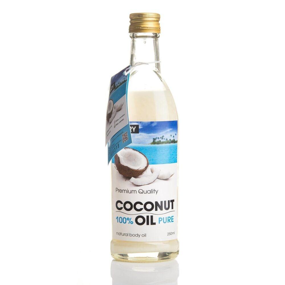 Масло рафинированное кокосовое универсальное Hillary 100% Pure Coconut Oil, 250ml 2 - Фото 3
