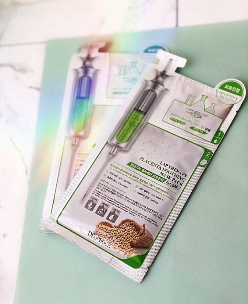 Омолаживающая Маска - Ампула 2х Фазная С Экстрактом Плаценты Deoproce Lap Therapy Placenta Soothing Ampoule Mask Pack 0 - Фото 1