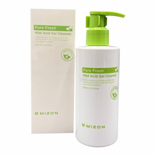 Гель для эффективного умывания успокаивающий с розмарином Mizon Pore Fresh Mild Acid Gel Cleanser 200ml 2 - Фото 2