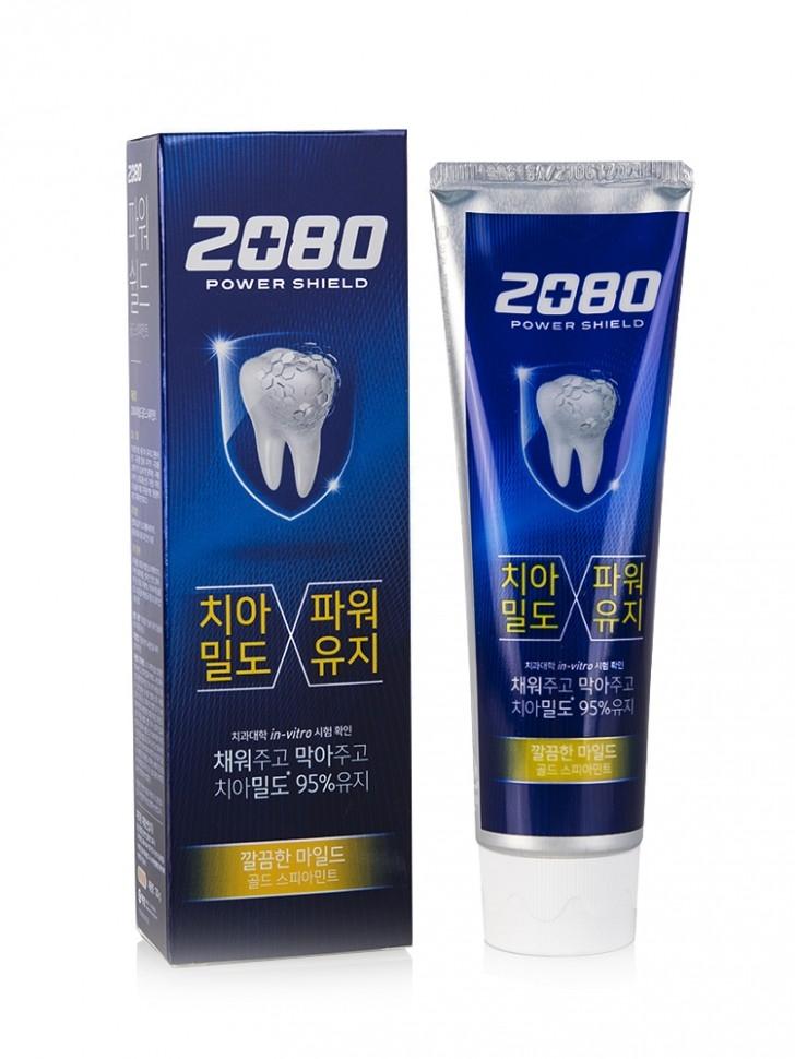 Зубная паста с экстрактом мяты 2080 Power Shield Gold Spearmint 120g 2 - Фото 2