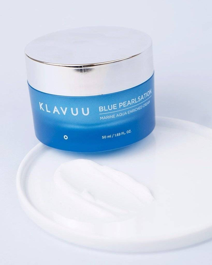 Набор: Очищающая Вода И Крем Для Восстанавливающий Увлажняющий Лица Klavuu  Blue Pearlsation