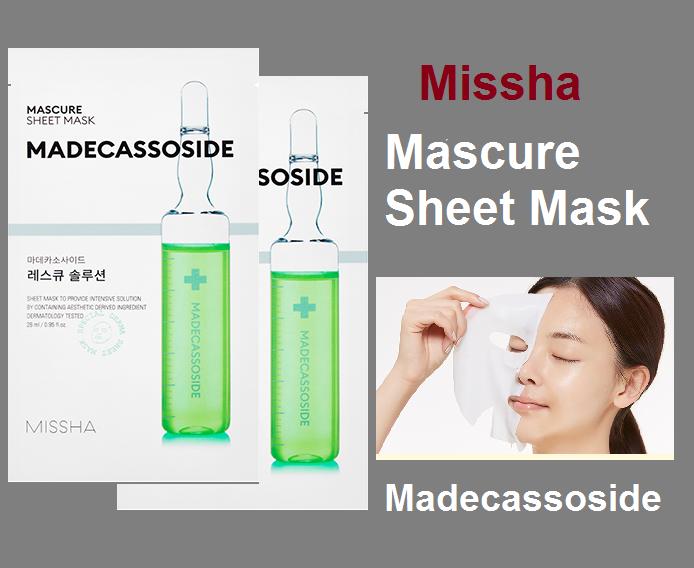 Маска Для Лица Успокаивающая С Мадекассосидом Missha Mascure Rescue Solution Sheet Mask Madecassoside 27ml 3 - Фото 3