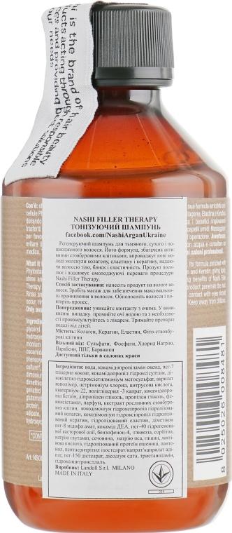 Тонизирующий шампунь Nashi Argan Filler Therapy Restorative Shampoo 250ml 2 - Фото 2
